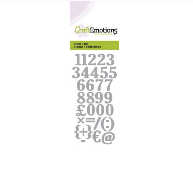 Stanzformen Nummern CraftEmotions