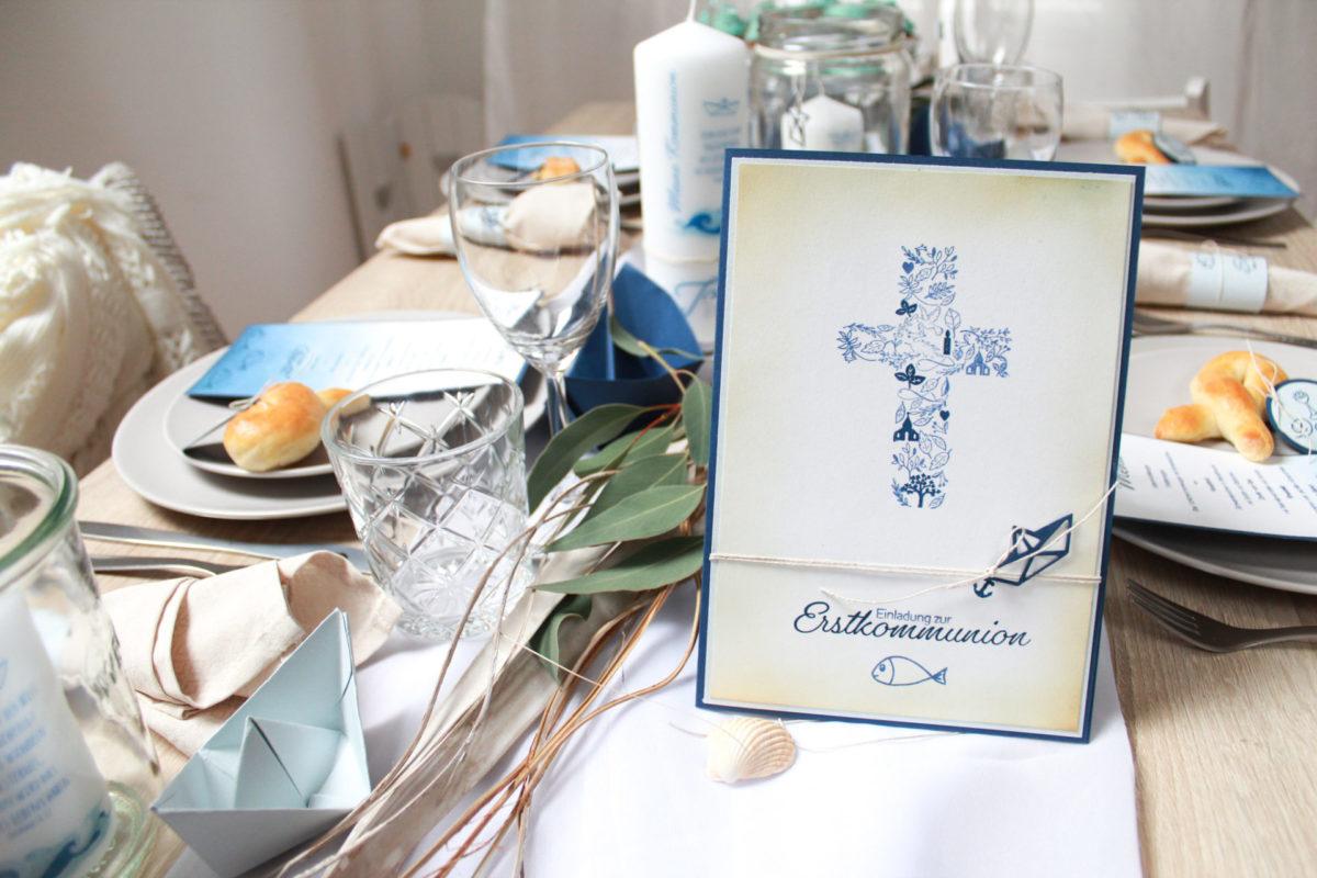 Einladung zur Kommunion selber basteln | Unsere kleine Bastelstube - DIY Bastelideen für Feste & Anlässe