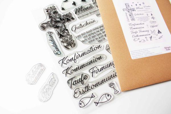 Stempelset Kommunion | Unsere kleine Bastelstube - DIY Bastelideen für Feste & Anlässe