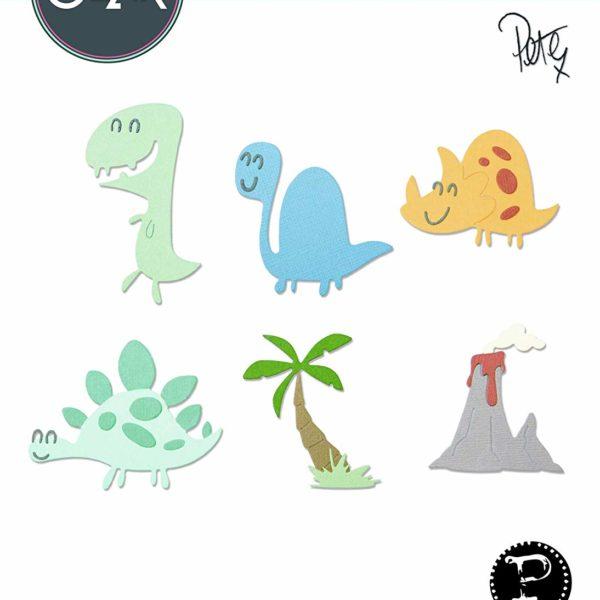 thinlits dinosaurer sizzix