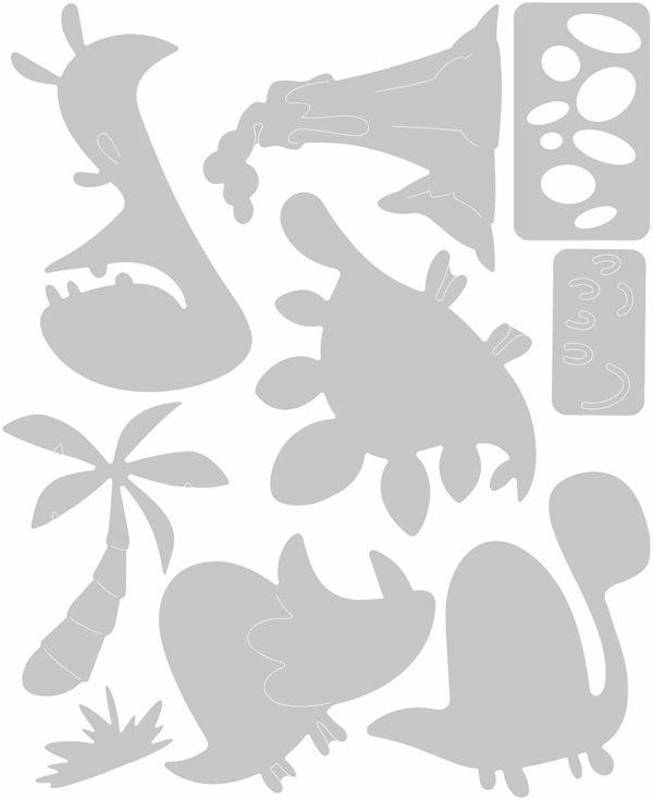 Stanzformen Thinlits Dinosaurier - Sizzix 664393 | Unsere kleine Bastelstube - DIY Bastelideen für Feste & Anlässe
