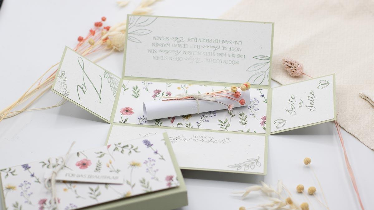 Explosionsbox Hochzeit - perfekt für Geldgeschenke und Gutscheine - Unsere kleine Bastelstube