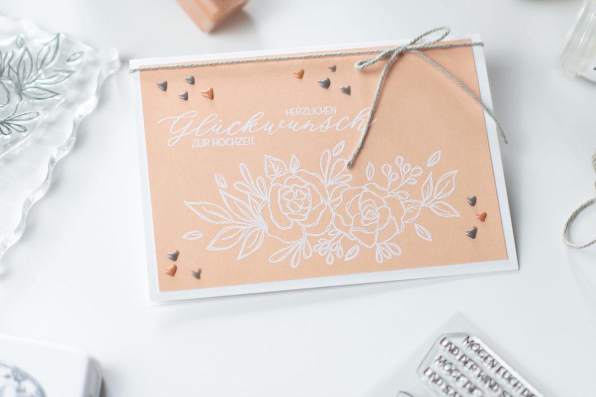 Stempelset Glückwunsch zur Hochzeit | Unsere kleine Bastelstube - DIY Bastelideen für Feste & Anlässe