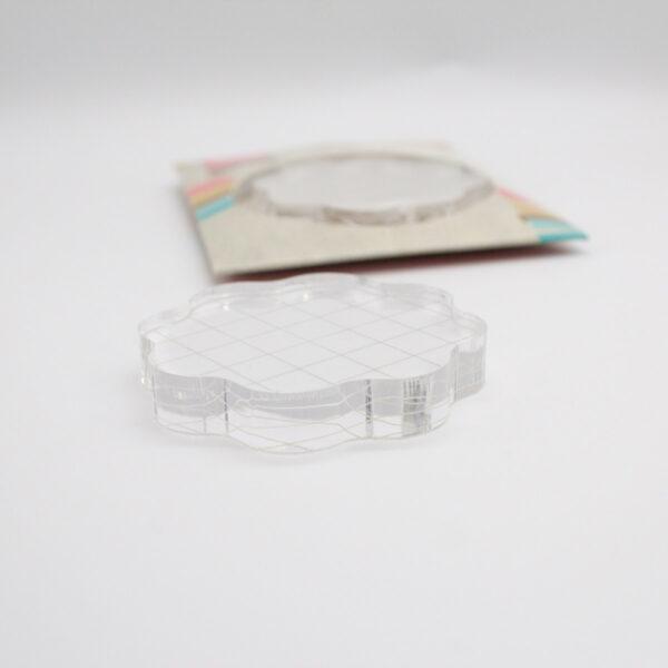 Acrylblock (Stempelblock Rund wellig) von Marianne Design