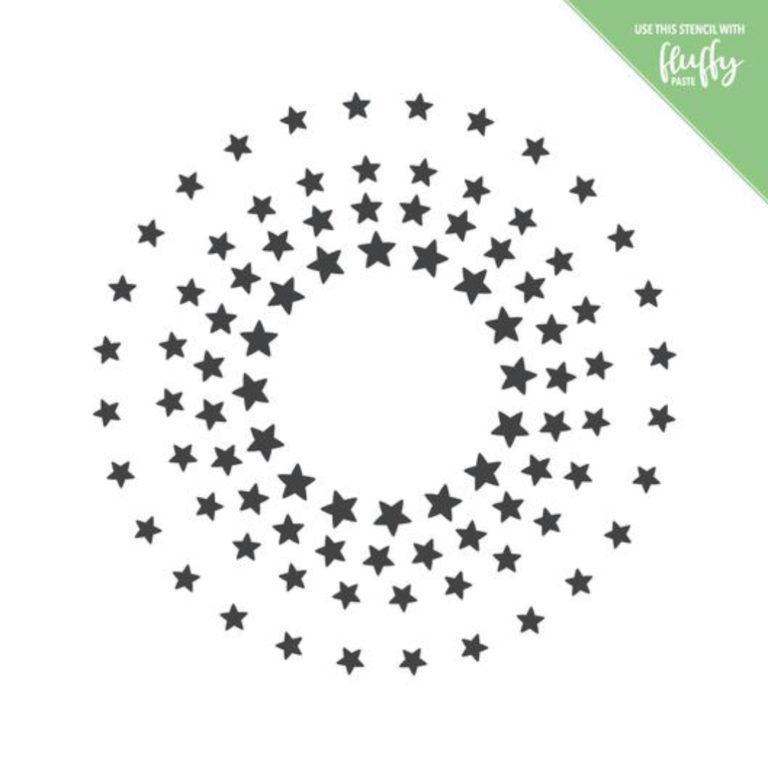 Stencil Sterne Kreis- ModaScrap