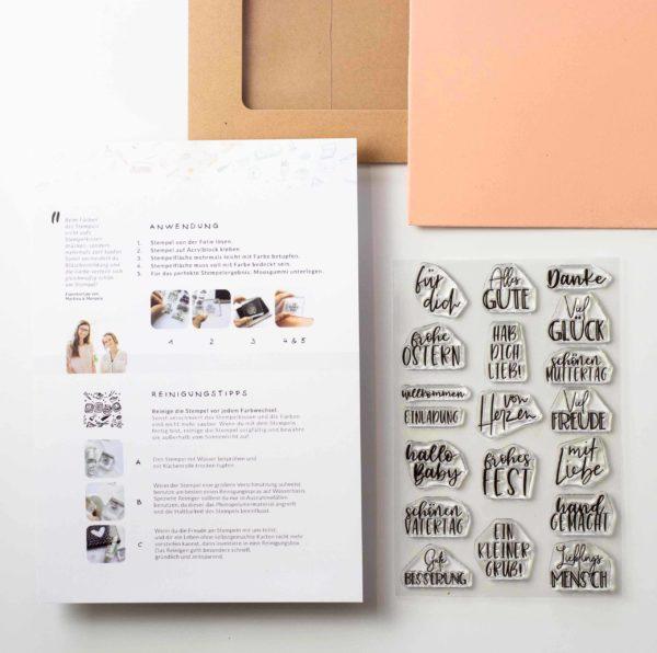 Stempelset Kleine Grüße | Unsere kleine Bastelstube - DIY Bastelideen für Feste & Anlässe