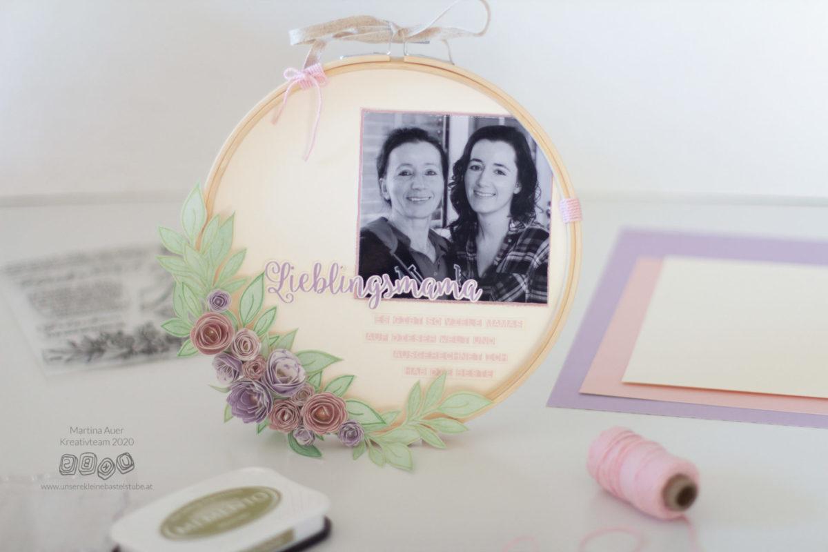 DIY Muttertags-Stickrahmen