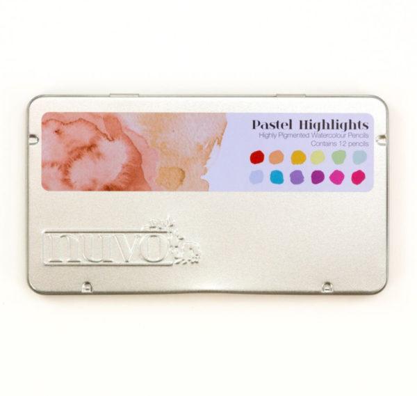 Watercolour Stifte Pastel Highlights- Nuvo | Unsere kleine Bastelstube - DIY Bastelideen für Feste & Anlässe