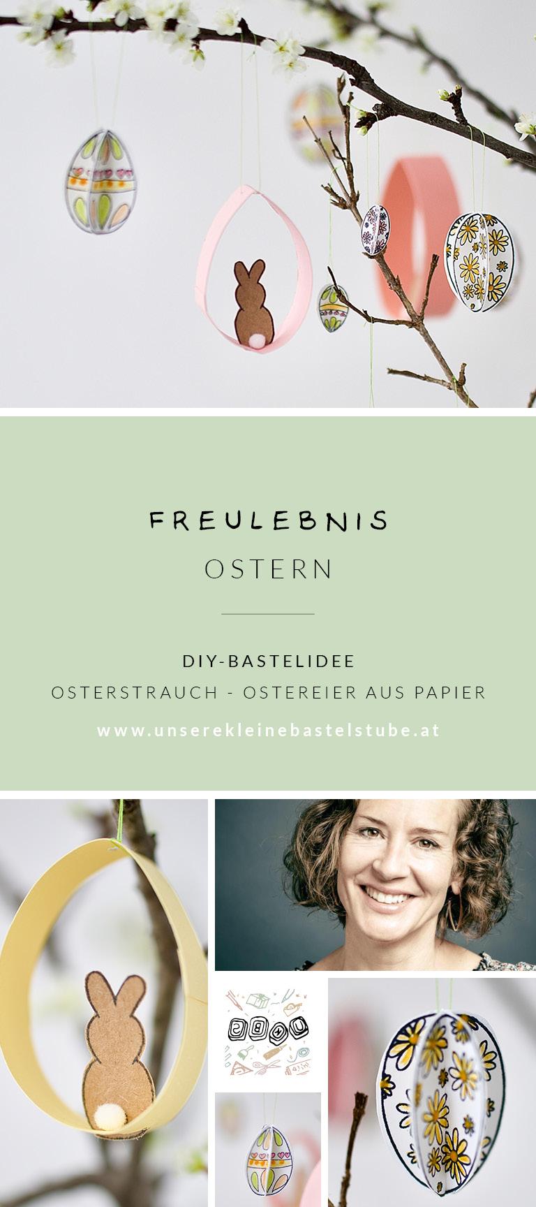 osterstrauch-ostereier aus papier