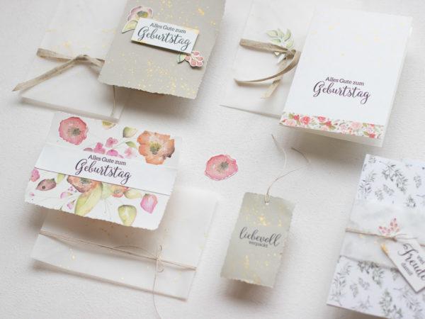 BASTELPAKET - Lass deine Seele blühen   Karten und Verpackungen einfach basteln   Unsere kleine Bastelstube - DIY Bastelideen für Feste & Anlässe