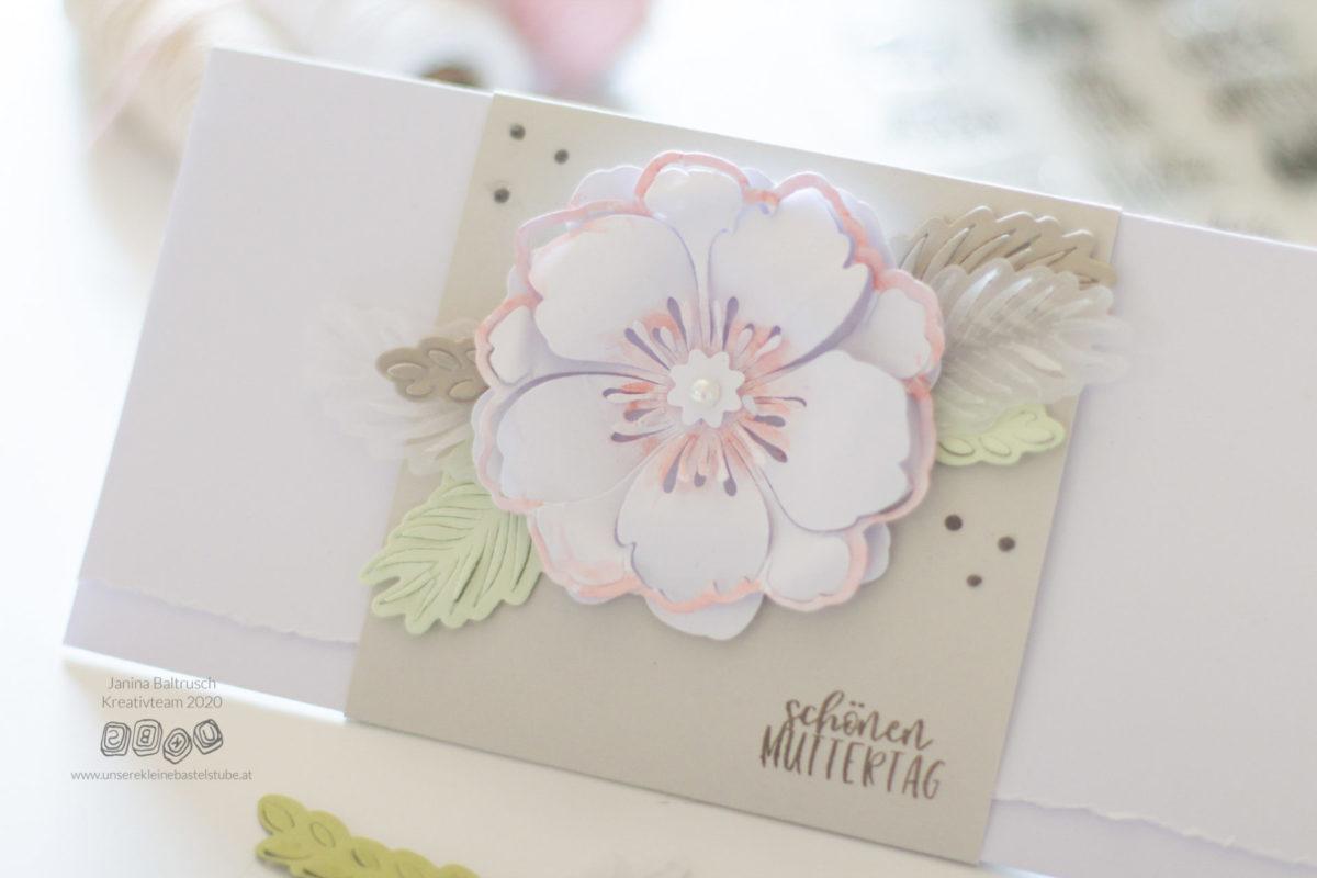 DIY Karte zum Muttertag basteln   Unsere kleine Bastelstube - DIY Bastelideen für Feste & Anlässe