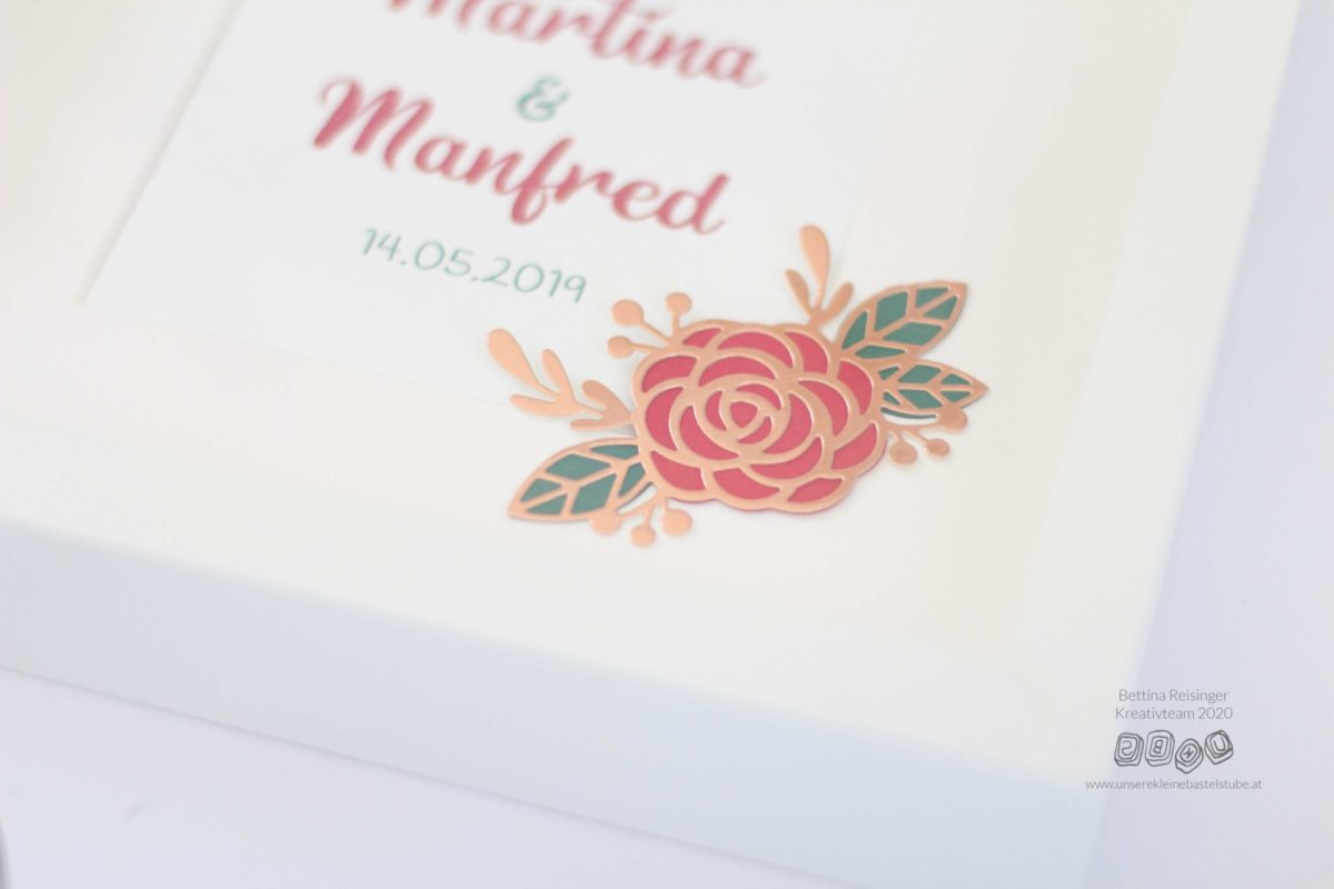 Rahmen für die Hochzeitsgeschenk - Martina