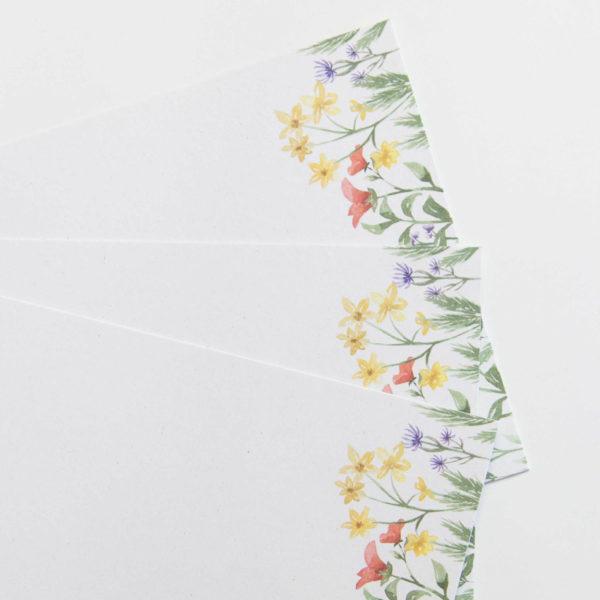 Designpapier Wiesenblumen Postkarten Hochformat Printable (zum ausdrucken) | Unsere kleine Bastelstube - DIY Bastelideen für Feste & Anlässe