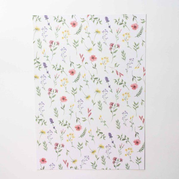 Designpapier Wiesenblumen