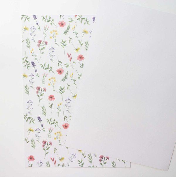 Designpapier Wiesenblumen A4 | Unsere kleine Bastelstube - DIY Bastelideen für Feste & Anlässe
