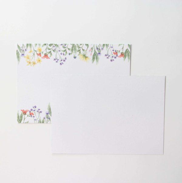 Postkarten Wiesenblumen 5 Stück (Querformat) | Unsere kleine Bastelstube - DIY Bastelideen für Feste & Anlässe