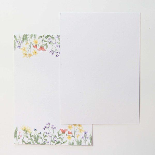 Postkarten Wiesenblumen 5 Stück (Hochformat) | Unsere kleine Bastelstube - DIY Bastelideen für Feste & Anlässe