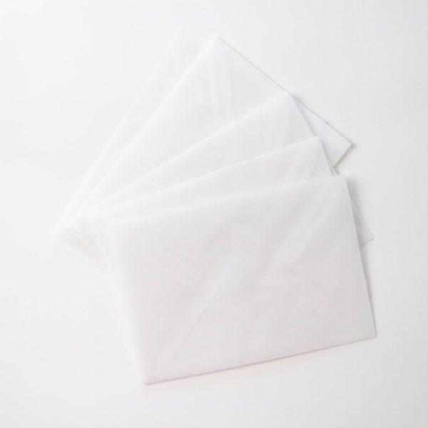 pergament Briefumschlag - transparent