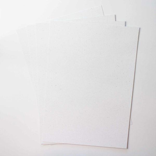 Feinpapier Flora Naturweiß 5 Blatt - A4 | Unsere kleine Bastelstube - DIY Bastelideen für Feste & Anlässe