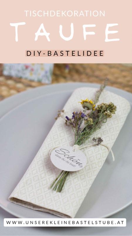 So gestaltest du eine Tischdekoration mit Wiesenblumen selber - 7 Ideen zum Selbermachen | Unsere kleine Bastelstube - DIY Bastelideen für Feste & Anlässe