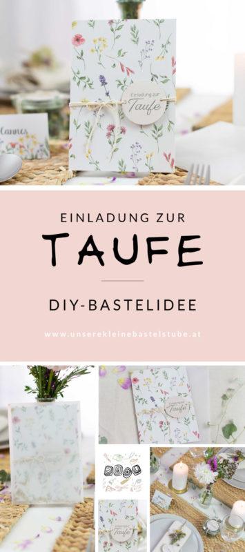 Einladungskarte und Tischdeko für Taufe selber basteln-selbermachen-DIY-Set