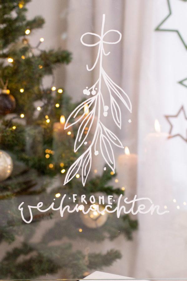 Fensterbild Weihnachten mit dem Kreidemarker - Chalk marker von Edding