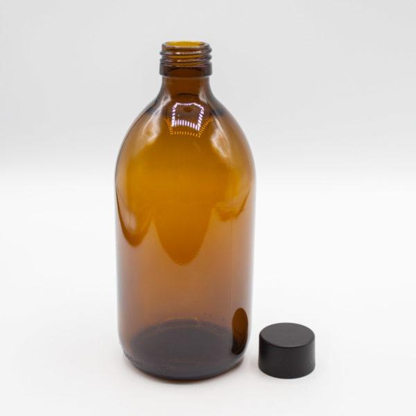 Flasche aus Braunglas 500 ml