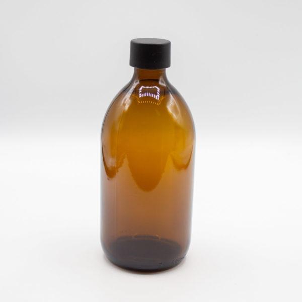 Flasche Braunglas- Seifenspender - DIY Geschenke