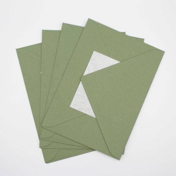 Briefumschlag Olivgrün B6