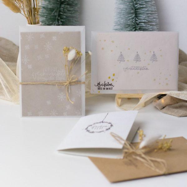 DIY Set Weihnachten - Karten basteln