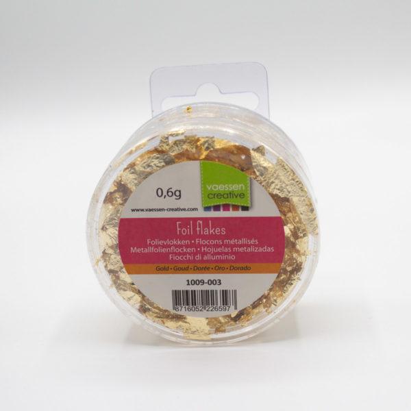 Gold Metallfolienflocken - DIY Basteln