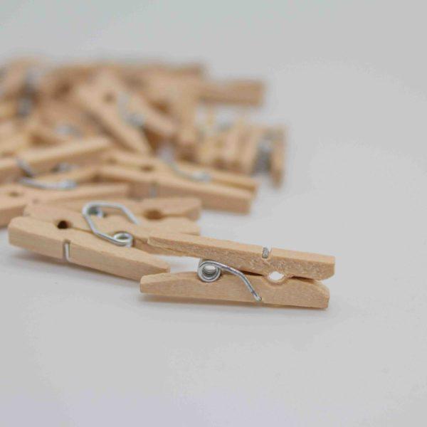 Wäscheklammern Holz klein