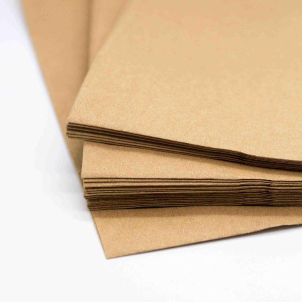 Flachbeutel Kraftpapier