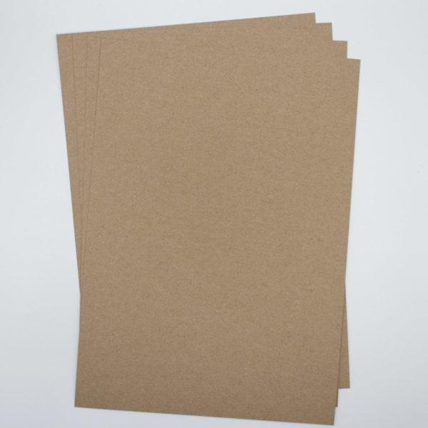 Kraftpapier Muskat braun DIY Karten basteln und Handlettering