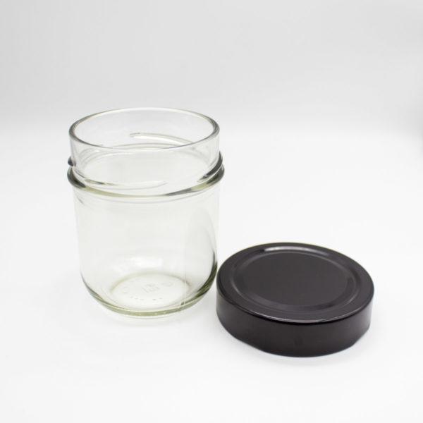 Marmeladenglas mit Deckel schwarz - DIY Geschenke