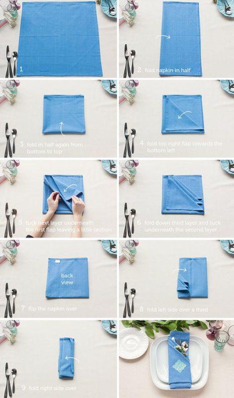 So machst du DIY Stoffservietten aus Leinen selber | Unsere kleine Bastelstube - DIY Bastelideen für Feste & Anlässe