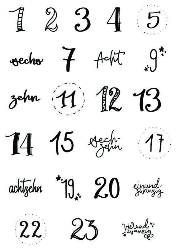 Adventskalender basteln - Nature Style   Skandi   Unsere kleine Bastelstube - DIY Bastelideen für Feste & Anlässe