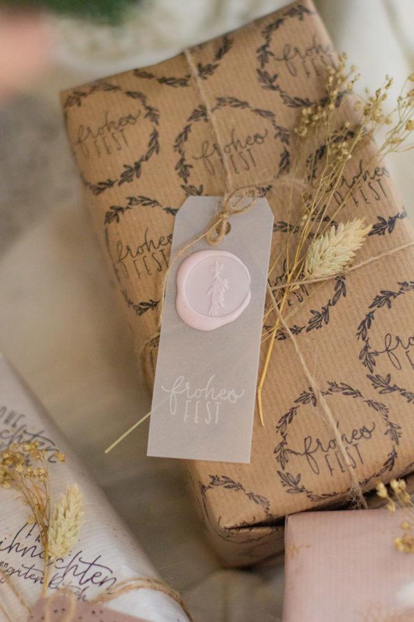 Geschenkanhänger lang - Geschenke verpacken - Weihnachten
