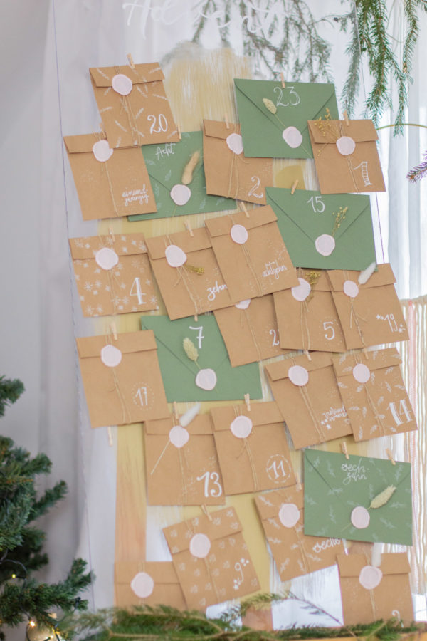 DIY Set Adventskalender basteln Earthy Vibes