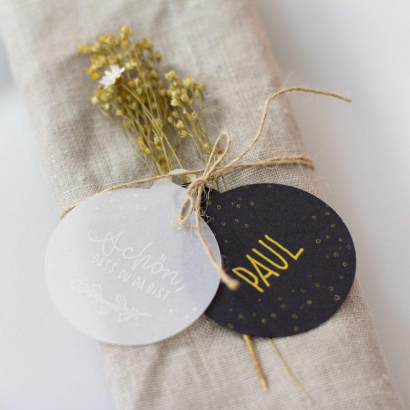 DIY Set Weihnachten Nature Style - Tischdeko selber machen