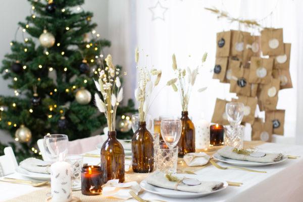 DIY Set Weihnachten Nature Style- Tischdeko selber machen