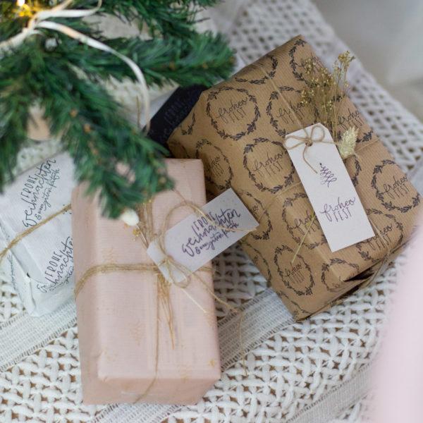 DIY Set Weihnachten Nature Style- Geschenke verpacken