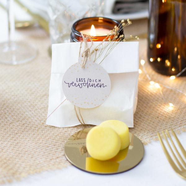 Flachbeutel weiß - DIY Geschenke verpacken