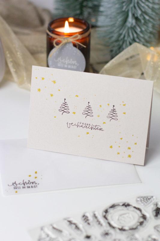 Basteln für Weihnachten - Gemütlich daheim im Nature Style feiern | Unsere kleine Bastelstube - DIY Bastelideen für Feste & Anlässe