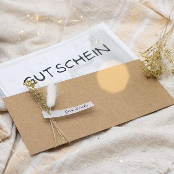 Geschenkgutschein per Mail | Unsere kleine Bastelstube - DIY Bastelideen für Feste & Anlässe
