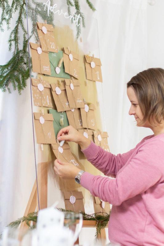 Einzigartigen Adventskalender basteln mit Siegel - Earthy Vibes | Unsere kleine Bastelstube - DIY Bastelideen für Feste & Anlässe