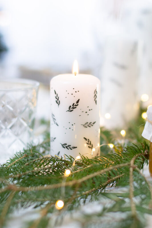 Kerzen bestempeln mit Folie