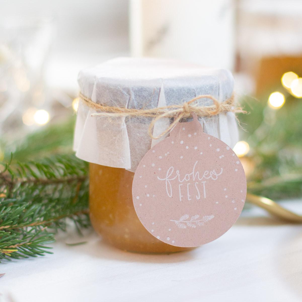 Bratapfelmarmelade als DIY Geschenke - mit Rezept und Verpackungsidee