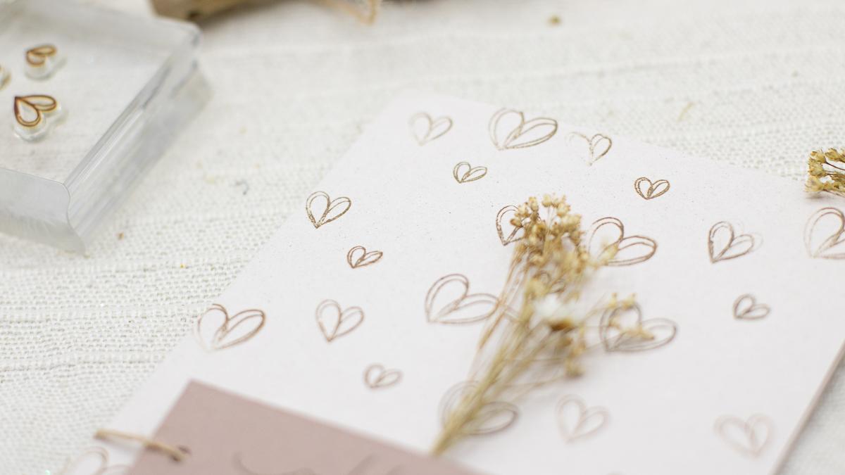 karte selber basteln zum Valentinstag, Muttertag oder Hochzeit