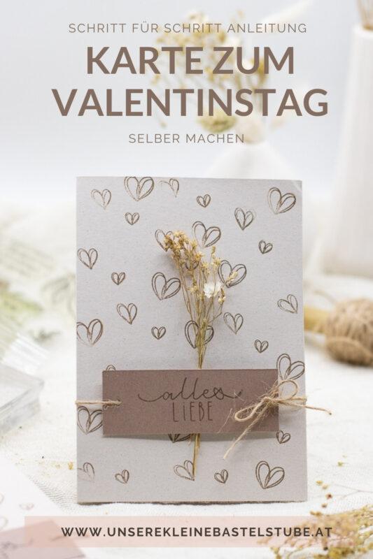 Karte zum Valentinstag selber basteln